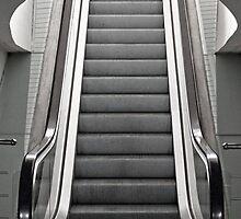 Bilbao Airport Escalator  by Adam Dyson