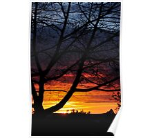 Sunset in provincial Australia Poster