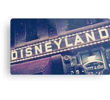 Disneyland Sign Metal Print