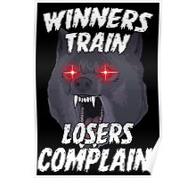 Winners Train Gym Sports Motivational Quote Poster