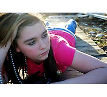 teenage thoughts Photographic Print