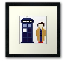 Pixel 10th Doctor and TARDIS Framed Print