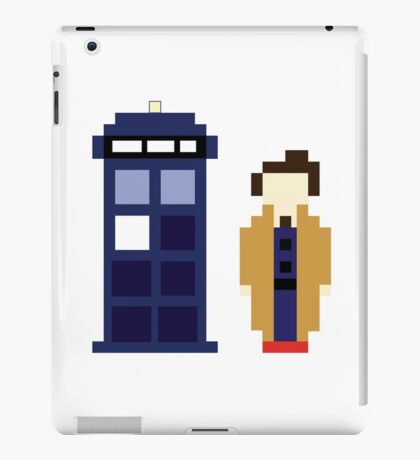 Pixel 10th Doctor and TARDIS iPad Case/Skin