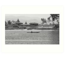 Inle Lake at noon Art Print