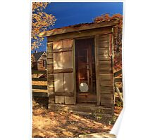 The Old Outhouse Poster