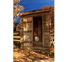 The Old Outhouse Photographic Print