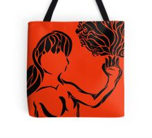 Girl With Palm Of Flame Tote Bag