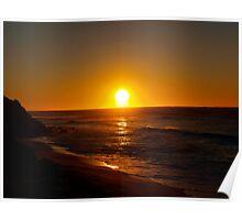 Sun rising at Coalcliff Poster