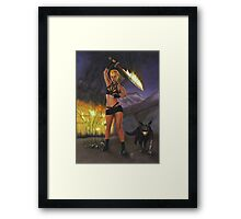 Fire Giant, part of the Giants series Framed Print
