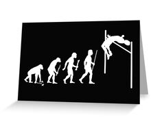 Evolution of Man and High Jump  Greeting Card