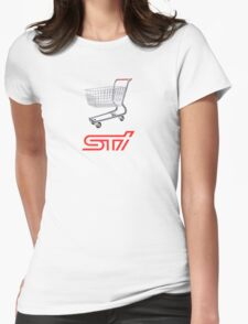 STI Shopping Cart Wing Womens Fitted T-Shirt