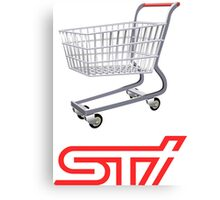 STI Shopping Cart Wing Canvas Print