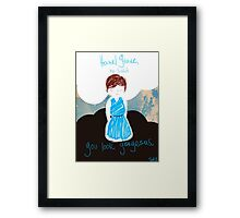 TFIOS: You Look Gorgeous Framed Print