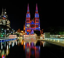Vivid Sydney 2010   St. Mary's Cathedral 3 by DavidIori