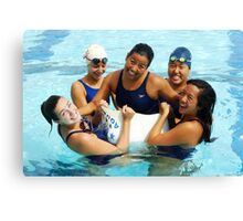 The Swim Cap Canvas Print