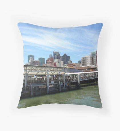 another view of downtown san francisco . Throw Pillow