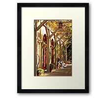 Relaxing In The Breezeway Framed Print