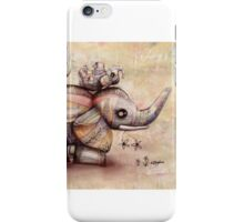 upside down elephants iPhone Case/Skin