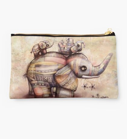 upside down elephants Studio Pouch
