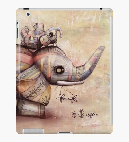upside down elephants iPad Case/Skin