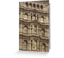 Melbourne Architecture, Building Front Greeting Card