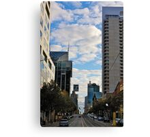Streetscape in Melbourne Canvas Print