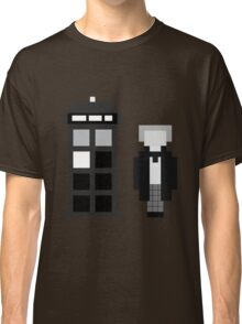 Pixel 1st Doctor and TARDIS Classic T-Shirt