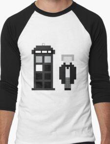 Pixel 1st Doctor and TARDIS Men's Baseball ¾ T-Shirt