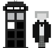 Pixel 1st Doctor and TARDIS by ObscureM