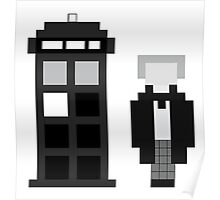 Pixel 1st Doctor and TARDIS Poster