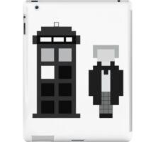 Pixel 1st Doctor and TARDIS iPad Case/Skin
