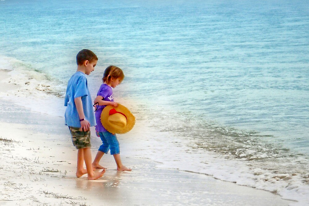 Kids beach Play by Dave Nielsen