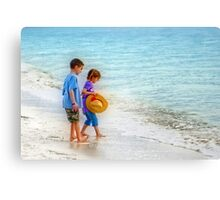 Kids beach Play Canvas Print
