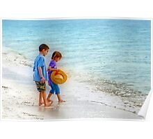 Kids beach Play Poster