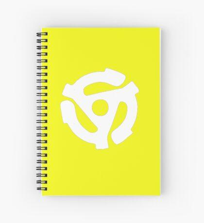 45 Record centrepiece in white Spiral Notebook