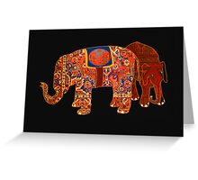 """Two Persian elephants"" Greeting Card"