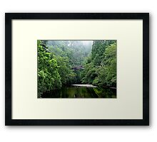 The lost bridge of Foyers, Loch Ness, Scotland. Framed Print