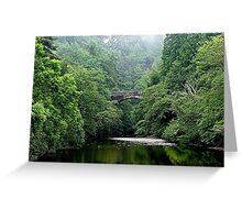 The lost bridge of Foyers, Loch Ness, Scotland. Greeting Card