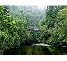 The lost bridge of Foyers, Loch Ness, Scotland. Photographic Print