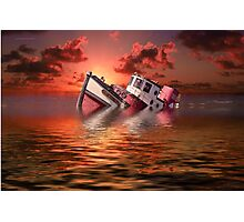 Sinking Boat Photographic Print