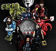 Wrestlemania 31: Avengers poster by JadeSwissRoll