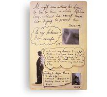 lost quote series #4 (Nietzsche) Canvas Print