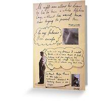 lost quote series #4 (Nietzsche) Greeting Card