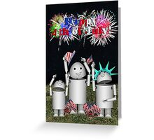 Robo-x9 and Family Celebrate ID4 Greeting Card