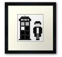 Pixel 2nd Doctor and TARDIS Framed Print