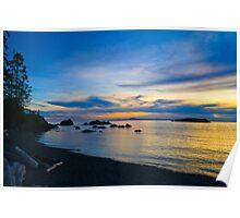 Rosario Beach Sunset Poster
