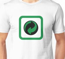Recycled symbol in a box Unisex T-Shirt
