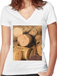 Cork jumble Women's Fitted V-Neck T-Shirt