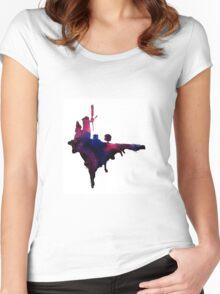 Gorillaz Windmill Island Women's Fitted Scoop T-Shirt