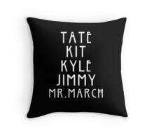 Evan Peters AHS Roles - White Throw Pillow